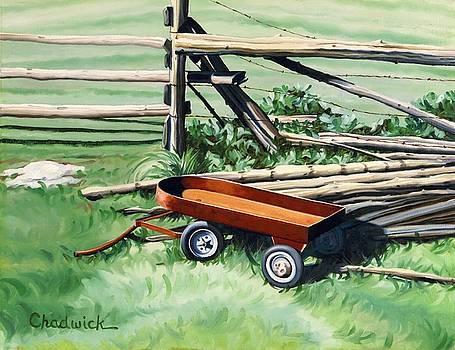 The Rusty Wagon at Byrns Farm by Phil Chadwick