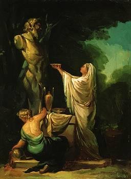 The Sacrifice To Priapus 1771 by Goya Francisco