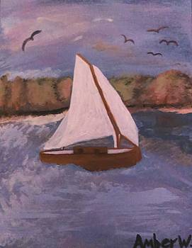 The Sail Boat  by Amber Waltmann