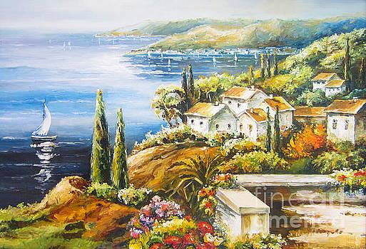 The sailing boat by Elena Yalcin