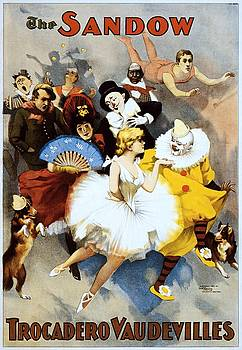 The Sandow Trocadero Vaudevilles, performing arts poster, 1894 by Vintage Printery