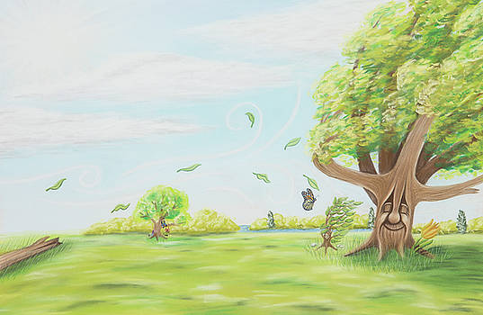 The Sapling - Windy Summer Day by Emily MacDonald