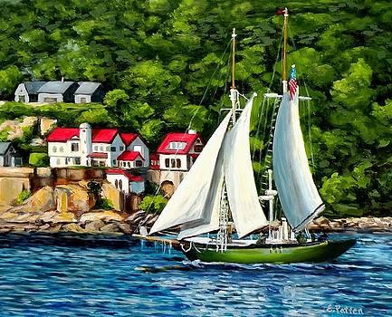 The Schooner Lannon Gloucester Harbor by Eileen Patten Oliver