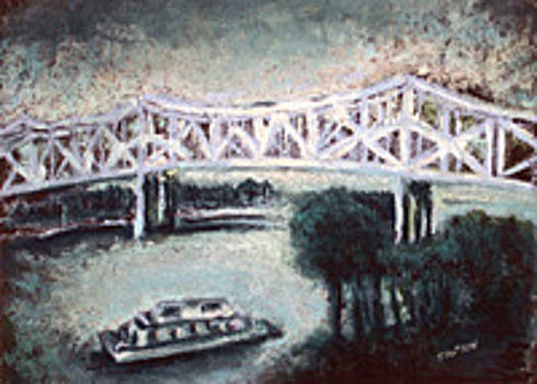 The Scott W. Lucas Bridge  by Sherry Hutson