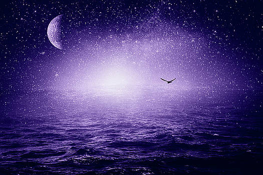 The Sea and The Universe - ultra violet by Dirk Wuestenhagen