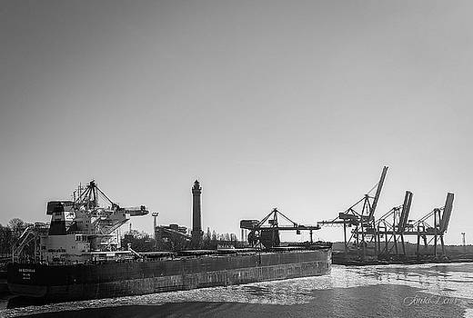 The seaport in Swinoujscie-BW.jpg by Laura Denis