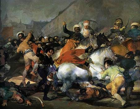 The Second Of May 1808 The Charge Of The Mamelukes 1814 by Goya Francisco