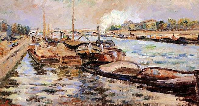 The Seine 1867 by Guillaumin Armand