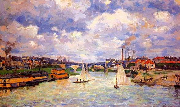 The Seine River At Charenton 1878 by Guillaumin Armand