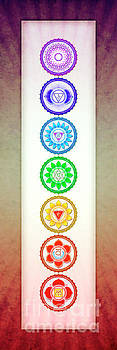 The Seven Chakras - Series 6 Artwork 1 by Dirk Czarnota