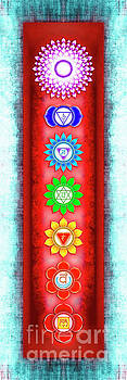 The Seven Chakras - Series 6 Artwork 3 Ice Blue by Dirk Czarnota