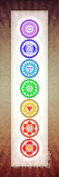 The Seven Chakras - Series 6 Color Variant Warm Brown by Dirk Czarnota