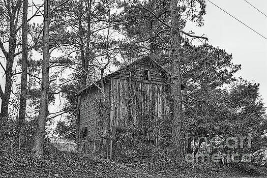 The Shack In Black And White by Kathy Baccari