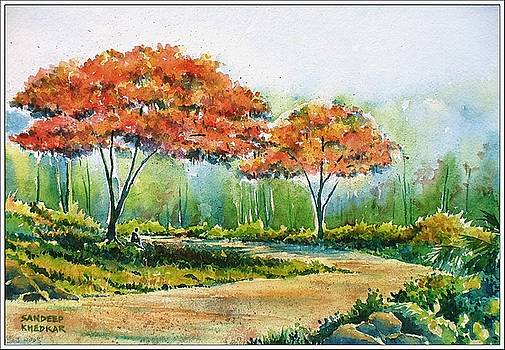 The Shade of the Gulmohur Trees by Sandeep Khedkar