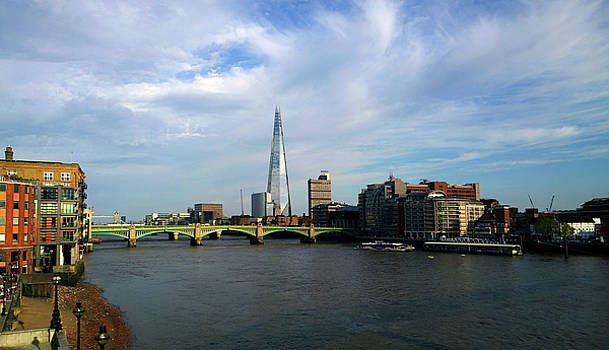 The Shard from The Thames by Anne Kotan