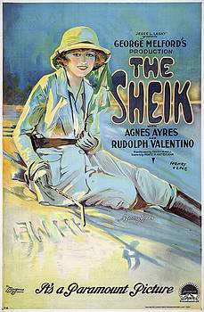The Sheik with Agnes Ayres and Rudolph Valentino, movie poster, 1921 by Vintage Printery
