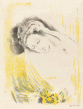 The Shulamite  by Odilon Redon