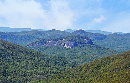 The Side View of Looking Glass Rock by rd Erickson