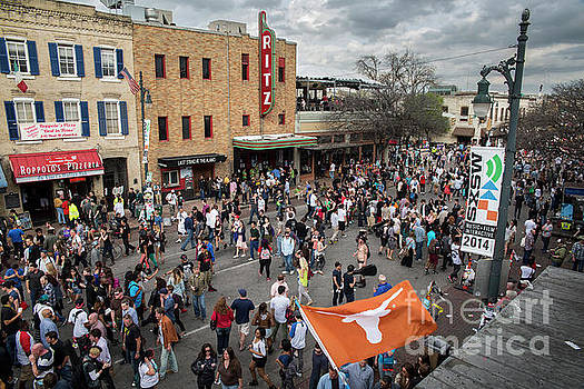 Herronstock Prints - The sights and sounds of SXSW are enormous from 6th Street as th