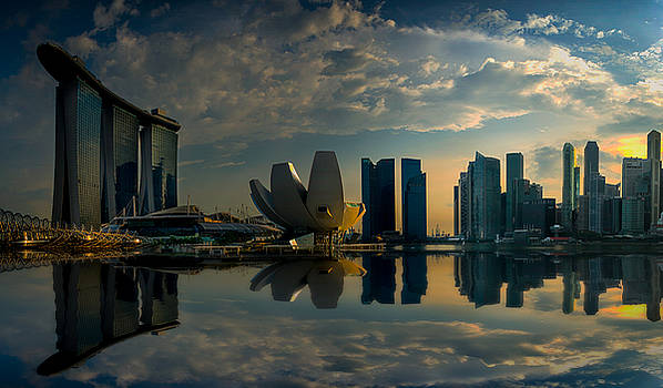 The Singapore Skyline by Christopher Francis
