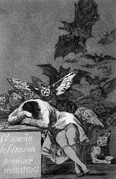 The Sleep Of Reason Produces Monsters 1799 by Goya Francisco