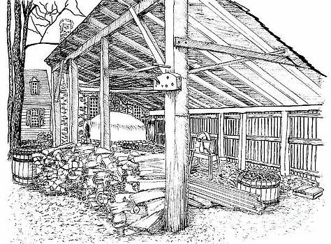 The Smithie's Shed and Militia's Bread Baking Oven by Dawn Boyer