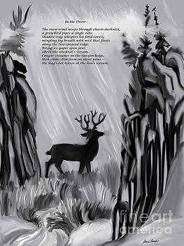 The Snow-Wind Weeps - illustrated poem age 17 by Dawn Senior-Trask
