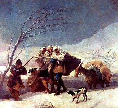 The Snowstorm Winter 1787 by Goya Francisco