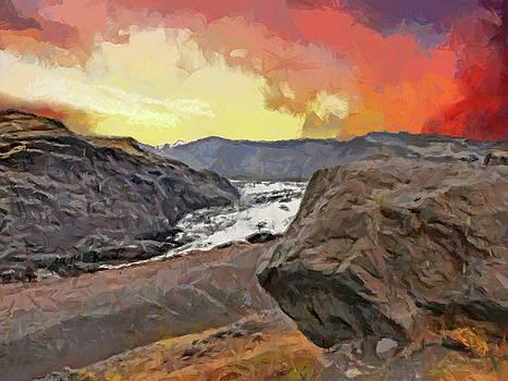 The Solheimajokull Glacier by Digital Photographic Arts