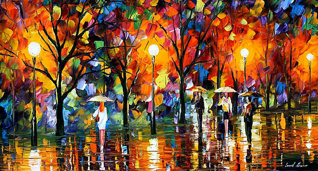 The Song Of Rain - PALETTE KNIFE Oil Painting On Canvas By Leonid Afremov by Leonid Afremov