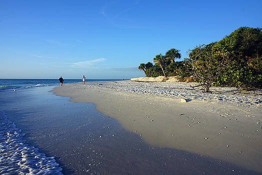 The South end of Barefoot Beach in Naples, FL by Robb Stan