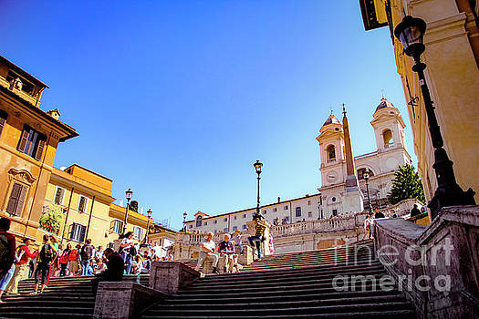 The Spanish Steps of Rome by Marina McLain