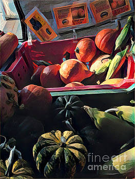 The Squash Bin - After the Harvest by Miriam Danar