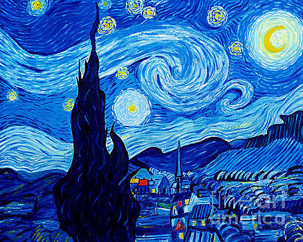The Starry Night - Tribute to Van Gogh by Art by Danielle