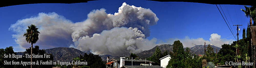 Clayton Bruster - The Station Fire Panoramic