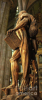 Gregory Dyer - The statue of St Bartholomew in Milan Cathedral