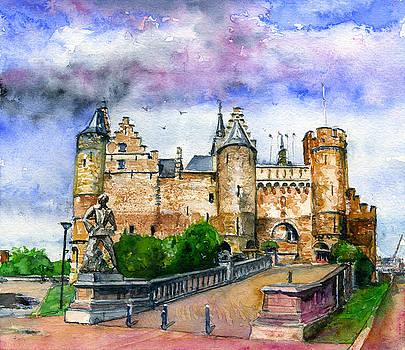 The Steen Castle Antwerp Belgium by John D Benson