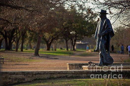 Herronstock Prints - The Stevie Ray Vaughan Memorial Statue is a National Landmark located on the beautiful Lady Bird Lake Hike and Bike Trail in downtown Austin, Texas