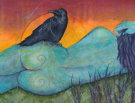 The Still Life With Crow by Marie Stone Van Vuuren