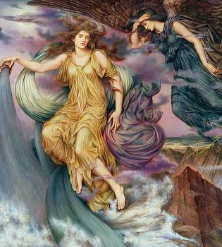 The Storm Spirits-Detail-1 by Evelyn De Morgan