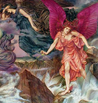 The Storm Spirits-Detail-2 by Evelyn De Morgan