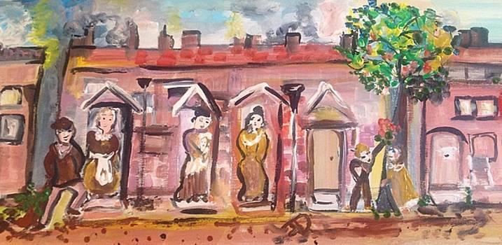 The street by Judith Desrosiers