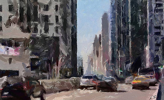 The Streets Of Chicago by Sergey Lukashin