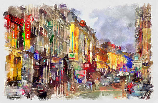 The streets of the city of Lille by Sergey Lukashin