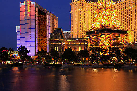 The Strip at Night 1 by Don MacCarthy