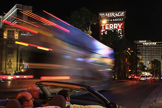 The STRIP AT NIGHT 4 by Don MacCarthy