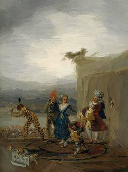 The Strolling Players 1793 by Goya Francisco