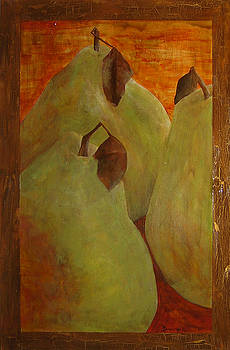 The Study of Three- Pears by Ellen Beauregard