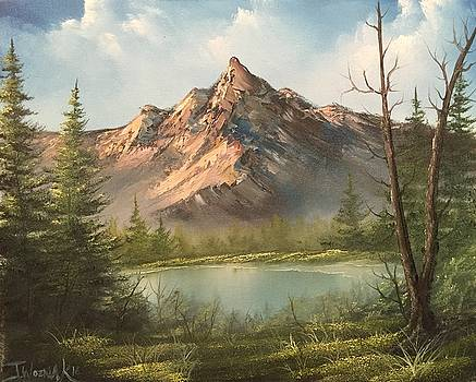 The summit  by Paintings by Justin Wozniak