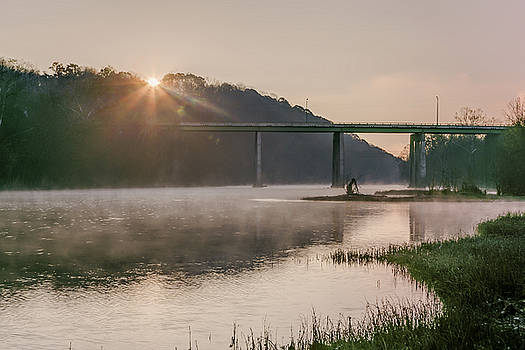 The Sun Rises Over The James by Tim Wilson